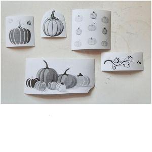 Pumpkin Stickers | Autumn, Fall, Leaves | 5x